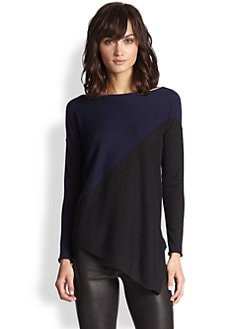 Alice + Olivia - Braelyn Colorblock Asymmetrical Sweater
