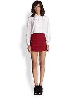 Alice + Olivia - Silas Stretch Silk Tuxedo Shirt