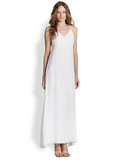 Alice + Olivia - Dove Draped T-Back Maxi Dress