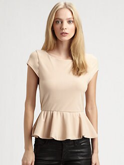 Alice + Olivia - Ella Peplum Tee
