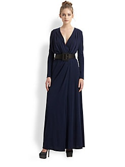 Alice + Olivia - Emmie Belted Wool Wrap Dress