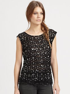 Alice + Olivia - Miranda Scallop Lace Top