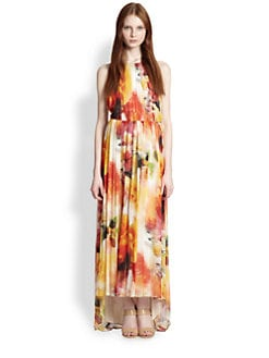 Alice + Olivia - Ryan Open-Back Floral-Print Maxi Dress