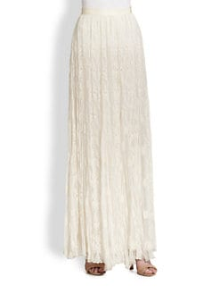 Alice + Olivia - Louie Silk Lace Maxi Skirt