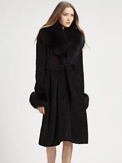 Alice + Olivia - Faux Fur Coat