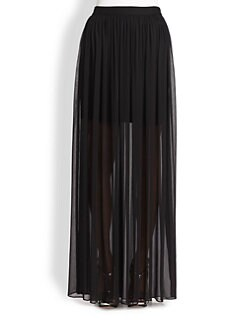 Alice + Olivia - Semi-Sheer Maxi Skirt