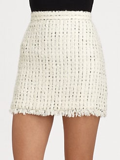 Alice + Olivia - Gabel Tweed Skirt