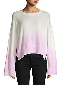 쟈딕 앤 볼테르 옴브레 코튼 스웨터 - 바이올렛 (하니 착용) Zadig & Voltaire Ombre Cotton Sweater,Violet Multi