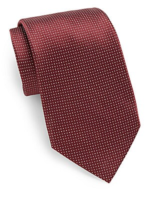 Pindot Silk Tie