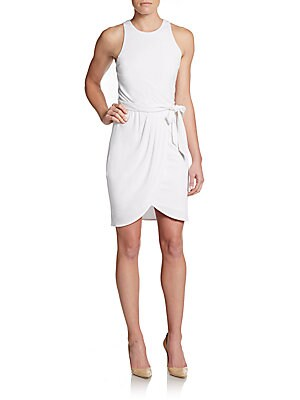 Faux Wrap-Skirt Jersey Dress