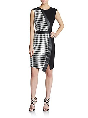 Faux-Wrap Sheath Dress