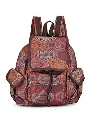 Floral Print Voyager Backpack