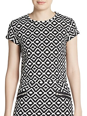 Geometric Print Quilted Top