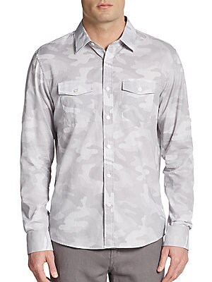 michael kors male camoprint cotton sportshirt