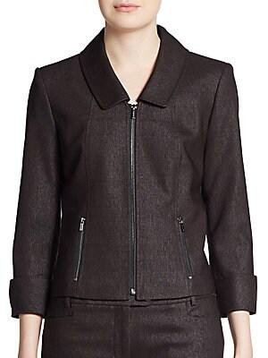 Three-Quarter Cuffed Zip Jacket