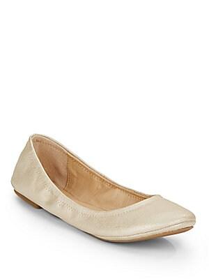 Elysia Metallic Leather Ballet Flats