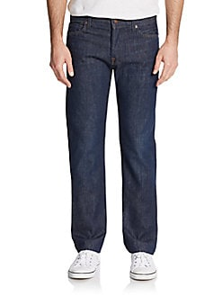 Website For Cheap Designer Clothes Standard Straight Leg Jeans