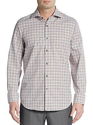 Regular-Fit Checked Cotton Sportshirt