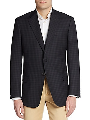 Regular-Fit Windowpane Check Sportcoat