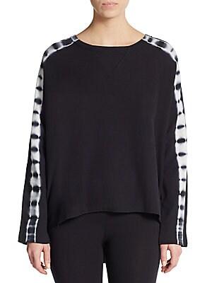 Tie-Dye Stripe Pullover Sweater