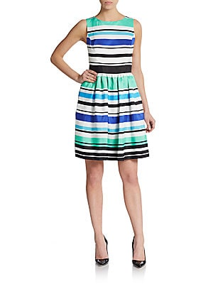 Sleeveless Colorblock Stripe Dress