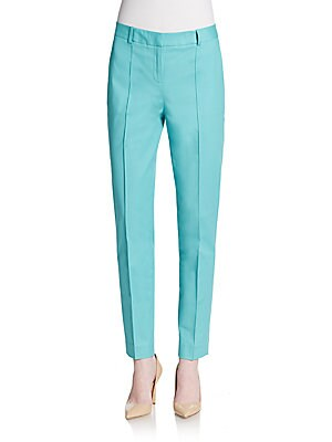 Pintuck Seam Straight-Leg Pants