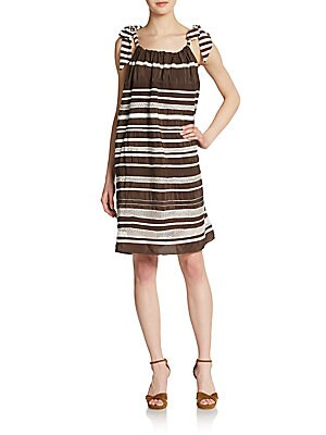 Benicia Striped Silk Sundress