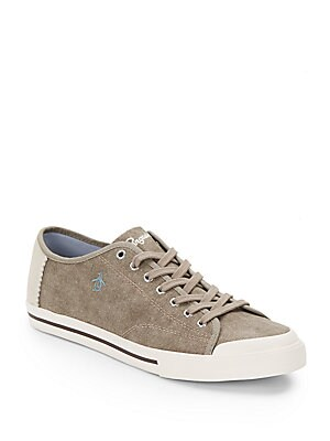 Chiller Suede-Trimmed Sneakers