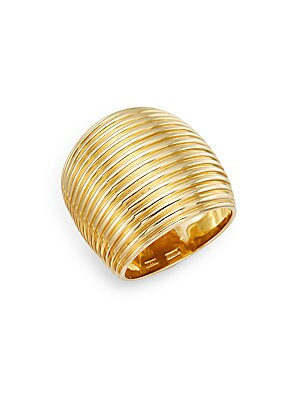 Click here for 18K Yellow Gold Ribbed Ring prices