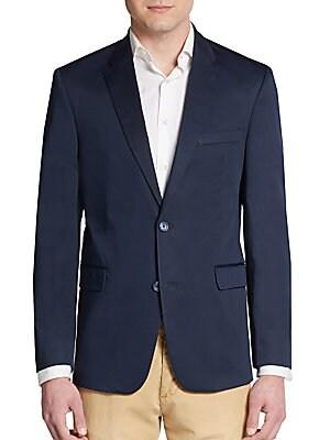 Regular-Fit Stretch Cotton Sportcoat
