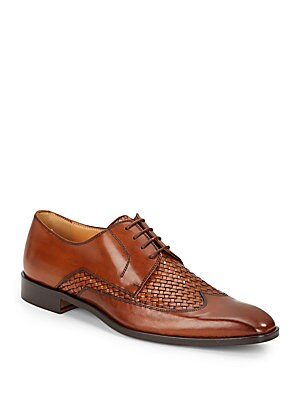 Woven Leather Wingtips