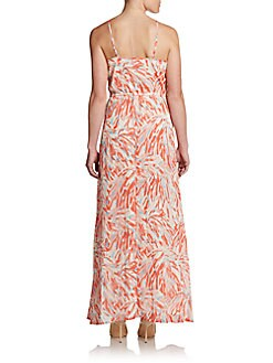 Preslee Abstract Print Maxi Dress