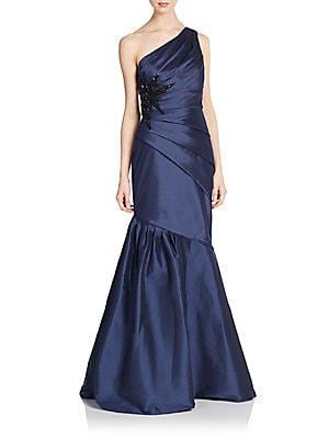 Embellished One-Shoulder Mermaid Gown