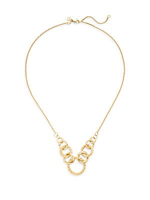Classic Chain 18K Yellow Gold Circle Link Necklace