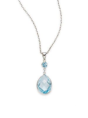 Click here for Topaz & 14K White Gold Pendant Necklace prices