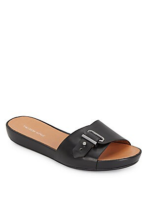 Pat Buckle Slide Sandals