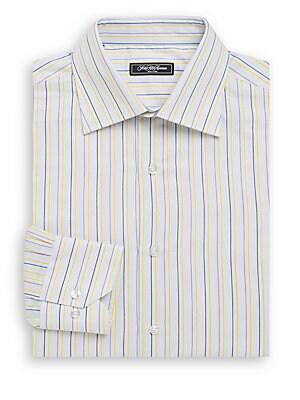 Regular-Fit Striped Cotton Dress Shirt