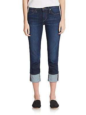 Cuffed Cropped Jeans