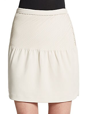 Asymmetrical Seamed Skirt