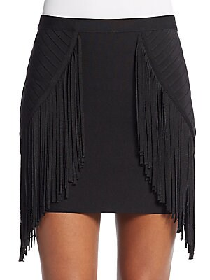 Phyllis Fringe Mini Skirt