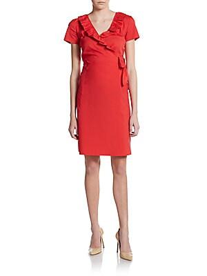 Winfrey Mock-Wrap Dress