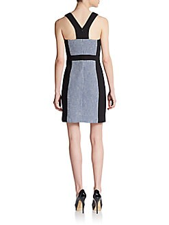 Raisa Tweed Colorblock Dress