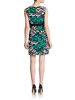 Chevron-Print Sheath Dress