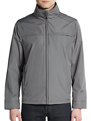 Water-Resistant Zip-Front Jacket