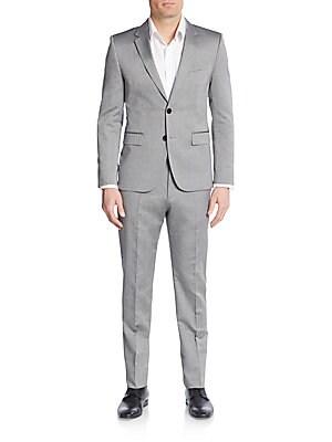 Regular-Fit Cotton & Mohair Suit