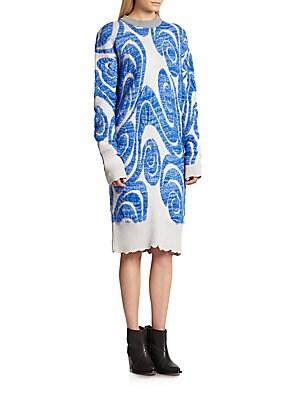 Gia PS Wool Jacquard Knit Sweaterdress