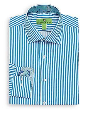 Regular-Fit Bengal Stripe Dress Shirt