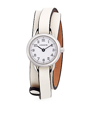 Dree Stainless Steel Leather Band Watch
