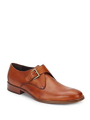 Williams Leather Monk-Strap Shoes