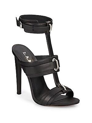 Bradley Leather High-Heel Sandals